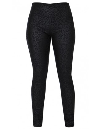 Læder-look leo leggings
